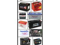 Car n van battery wanted £5 each dead or live Batterys