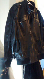 AWESOME LEATHER MOTORBIKE JACKET