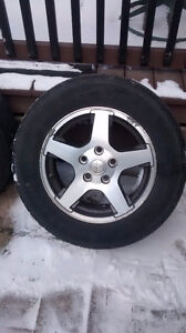 """17"""" Jeep Cherokee rims 5 with tires included!!"""