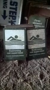 Swimming not supervised signs