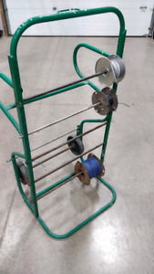 High Capacity Wire Reel / Roll / Spool Stand with Wheels