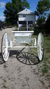 Vis a vis sleigh and single draft cart for sale