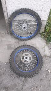 Dirtbike rims and tires $250 ish