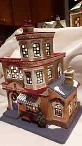 Christmas village house for sale. Can see inside when lit!!