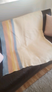 Canadian-made, pure-wool, twin-size blanket