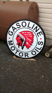 LARGE RED  INDIAN GAS SIGN