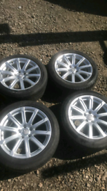 """18"""" x4 Audi A6 Alloy Wheels and Tyres. FINANCE AVAILABLE"""