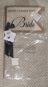 """Here comes the Bride"" Flag - Wedding Sign *REDUCED PRICE* Kitchener / Waterloo Kitchener Area image 2"