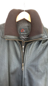 Men's Soft Leather Jacket size L with Removable Liner