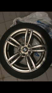 Original BMW M mags with winter tires 17 inch