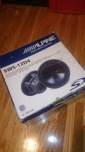 "Alpine type S 12"" sub woofer"