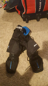 Bauer youth 1 piece hockey pants/shin pad and jock/jill