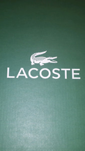Chaussure Lacoste blanc en cuir taille 9 *Neuf