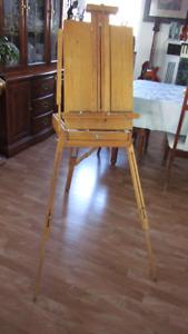 Wood art easel