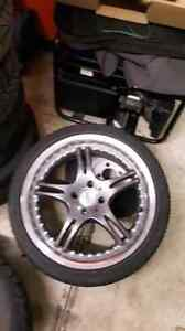 """17"""" 4x100 rims and tires"""