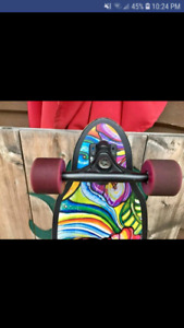 Longboard and protection gear