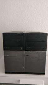 2 x Dell Optiplex 3010 i3 computers plus 1TB external HDD
