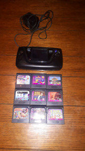 Game gear, power adapter and games
