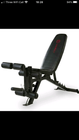 Marcy semi commercial heavy duty gym weights bench