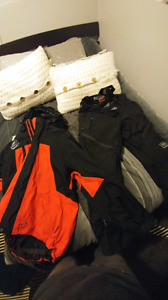 Sled gear bib pants and jacket