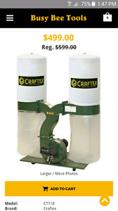 Craftex parts for saw dust collector