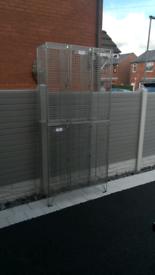 Steel triple cage locker