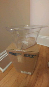 Clear Plastic 1/6 Size Cold Food Storage Container [New]