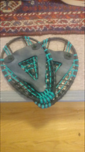 Small handmade kids snowshoes