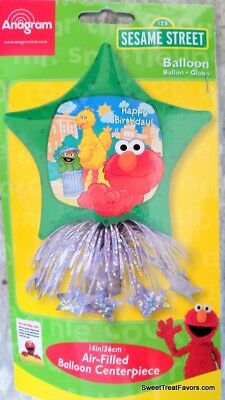 Baby Elmo Party Decorations (Sesame Street Elmo Centerpiece Air-Filled Balloon Table Decoration Kit 14in)