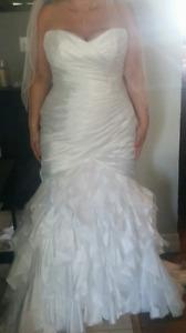 Mermaid Sottero & Midgely Haute Couture size 18