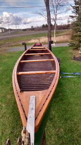 26 ft canoe with motor and trailer