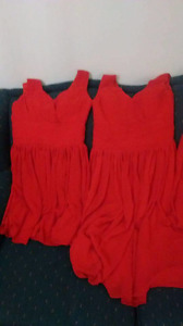 Dresses coral-red
