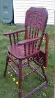 Antique Vintage baby High chair Stoller Early 1900s Netherlands