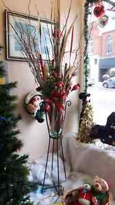 Beautiful vase with Christmas arrangement