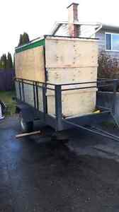 Utility trailer with or without enclosed box