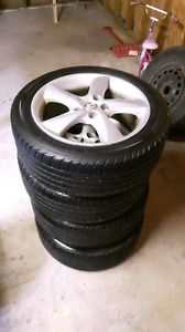 Tires and rims 215/50R17