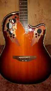 Ovation acoustic electric guitar.