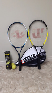 Tennis raquet set