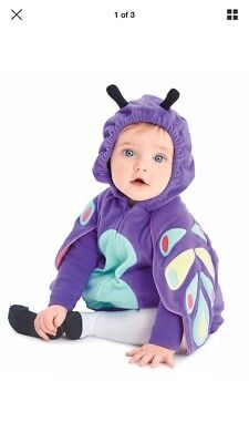 NWT Carter's 6-9 Month Halloween Butterfly Plush Costume Set Girl New - 6 Month Girl Halloween Costumes
