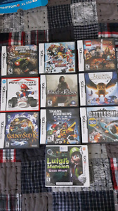 Nintendo dsi and 3ds. Games