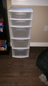 Plastic drawer cart