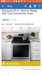 Samsung electric stove stainless steel