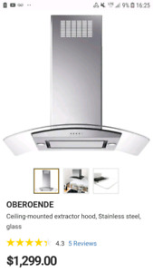OBEROENDE Ceiling-mounted extractor hood