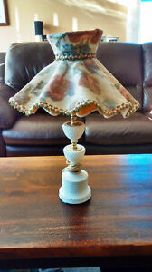 Antique Milk Glass Table Lamp