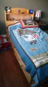 Twin captain bed