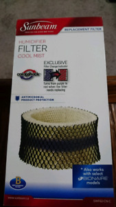 Sunbeam humidifier filter brand new free
