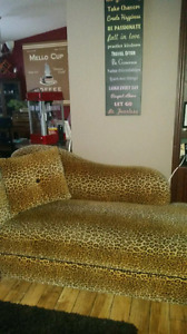 Lepard chaise couch