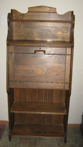 Antique Ash Wood Hutch/Desk