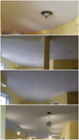 Popcorn ceiling removal & painting