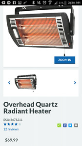 Quartz radiant heater